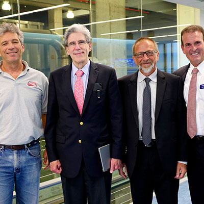 President Julio Frenk visits the Rosenstiel School in 2015