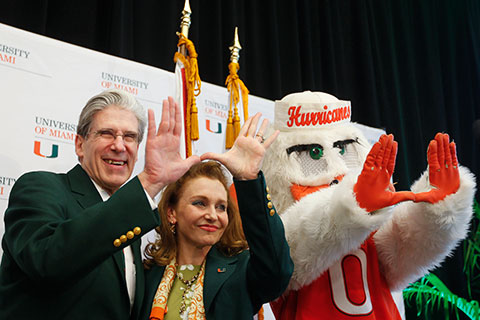 President Julio Frenk and Felicia Knaul throw up the U