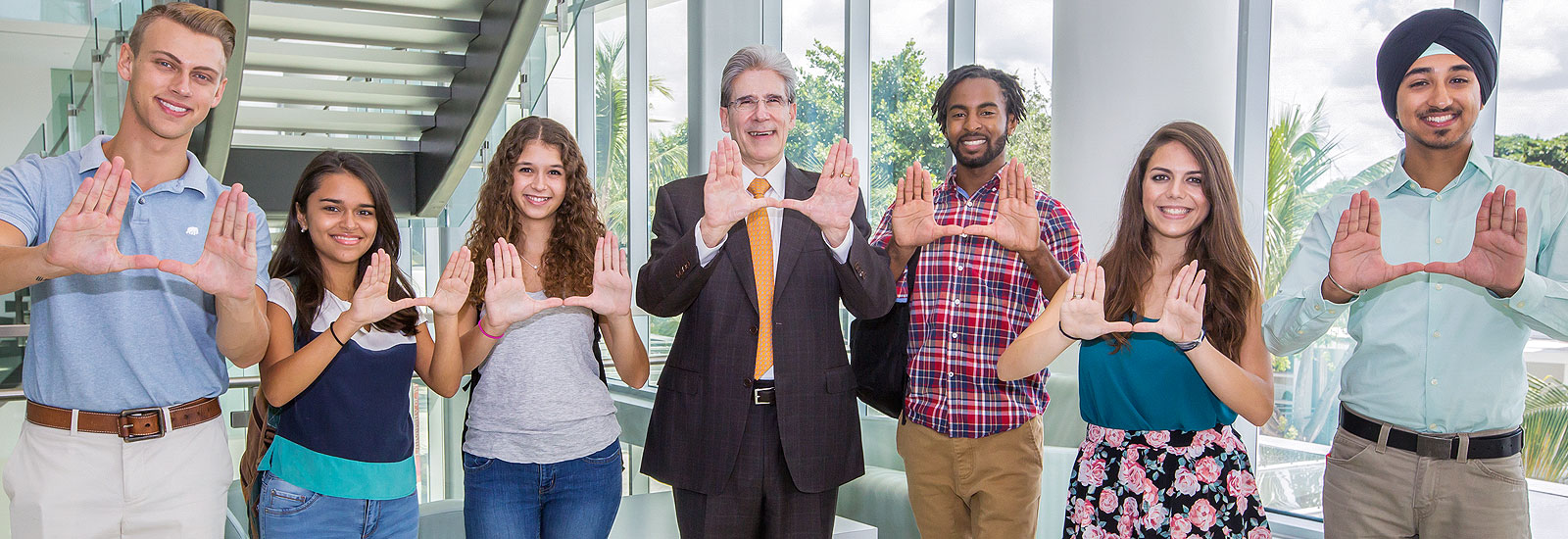 President Julio Frenk with students