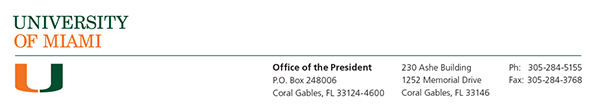 Office of the President Masthead